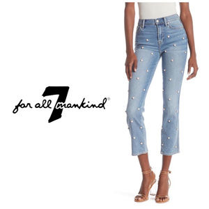 7 For All Mankind Edie High Waist Cropped Jeans 30